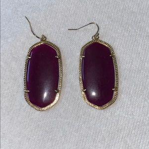 Kendra Scott Drop Earrings - Plum
